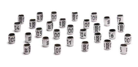 Anilhas Personalizadas Marcação Curió 2,6mm Pack 10 Units