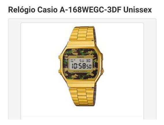 Relógio Casio A-168wegc-3df Unissex