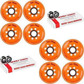 Labeda Patinaje Sobre Ruedas Skate Wheels Addiction Orange 8