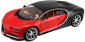 Carro Miniatura - Bugatti Chiron 1/18 - Vermelho E Preto -