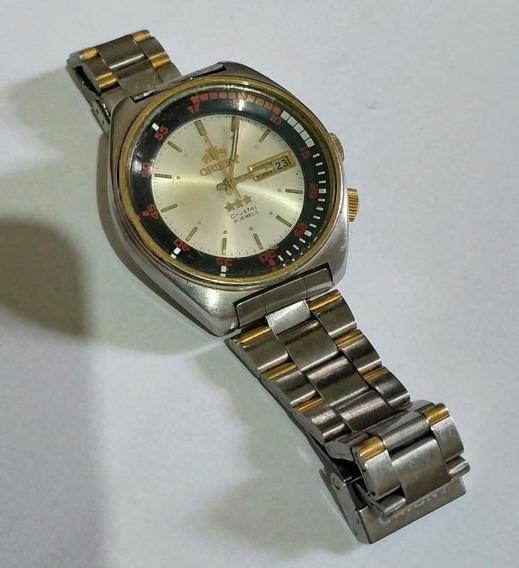 Relógio Orient Crystal 3 Estrelas 3 Chaves - Antigo De Coleção