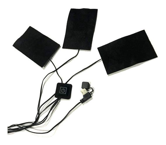 Usb Fibra De Carbono Elétrica Aquecida Filme 3 Engrenagem Te
