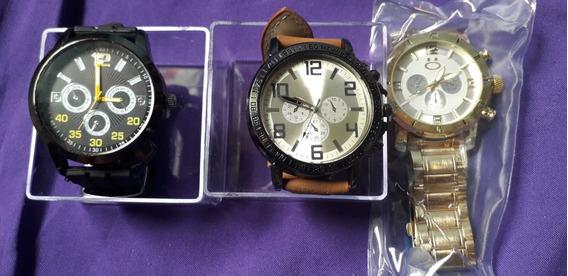 Kit Três Relógios Masculinos.