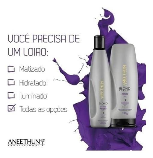 Kit Annethun Matizador Blond System Shampoo E Máscara+brinde