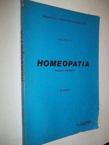 Livro Homeopatia Pequeno Compendio Max Tetau
