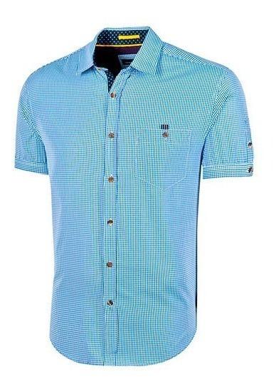 Camisa Polo Club Ca02861 Azul-blanco Caballero Oi