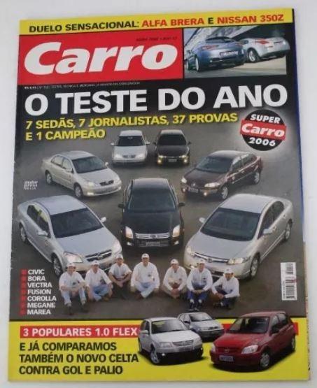 Revista Carro - Fusion Civic Vectra Corolla Megane Gol Palio