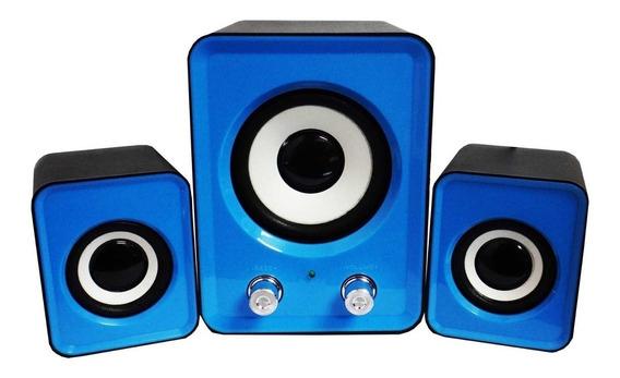 Corneta Speaker Subwoofer 2.1 Pc Laptop Celular Ft202