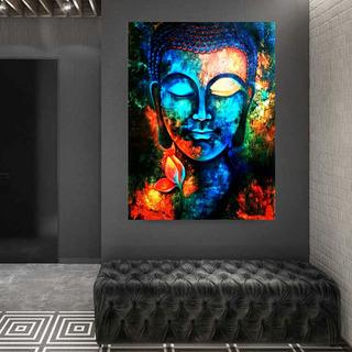 Cuadro Buda Moderno Abstracto Colores En Canvas Artistico Listo Para Colgar Lienzo No Sintetico Opcion De Enmarcado