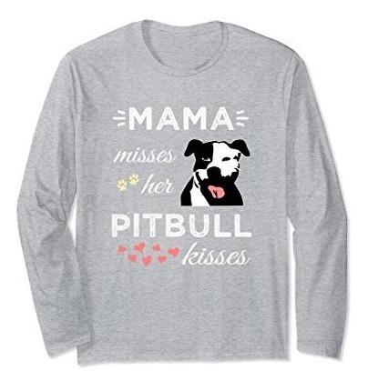 Camiseta Pitillo Pitbull Manga Larga Unisex Camiseta Pitly P