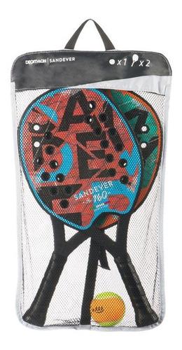 Imagen 1 de 4 de Raquetas Padel De Playa Set De Tenis De Playa Discover