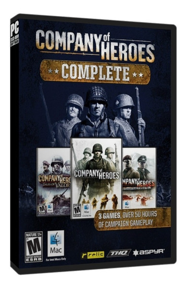Company Of Heroes Complete Edition (3 Jogos) Pc Dvd Frete 8$