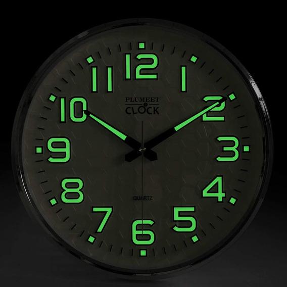 Función De Las Luces De Noche, Reloj De Pared Plumeet 13 Pul