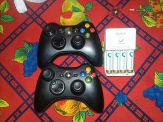 Mandos Xbox 360 Original Inalambricos Y Pilas Recargables Aa