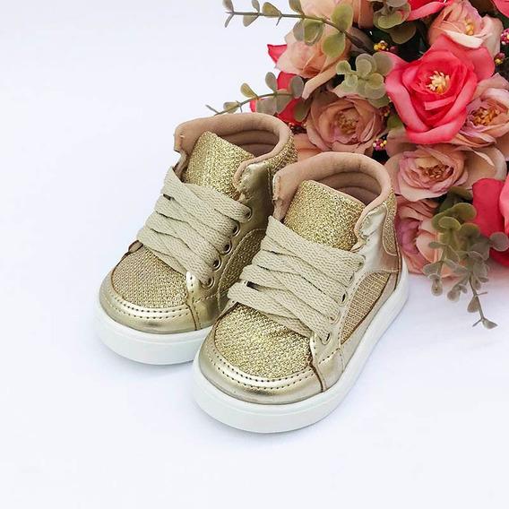Coturno Glitter Dourado