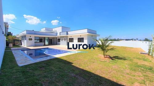 Imagem 1 de 30 de Casa  Térrea 4 Suites Com Projeto Moderno À Venda Conomínio Villa Lombarda - Valinhos / Sp - Ca4320