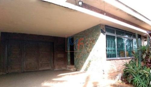 Imagem 1 de 6 de Ref  12.955- Excelente Casa No Bairro Bosque Da Saúde,3 Dorms, (1 Suíte), 6 Vgs, 342 M² .ac, 450 M² A.t, Frente:15 M. Zoneamento: Zepec. - 12955
