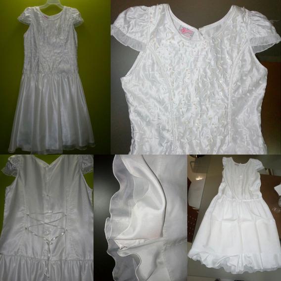 Vestido De Comunión Talla 14. Como Nuevo. Negociable