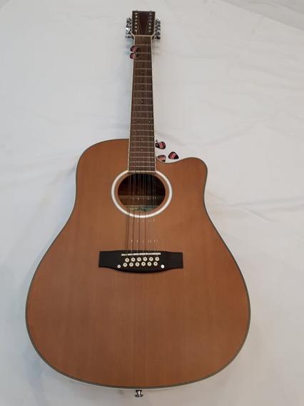 Guitarra Acustica Parquer 12 Cuerdas Gac400rb