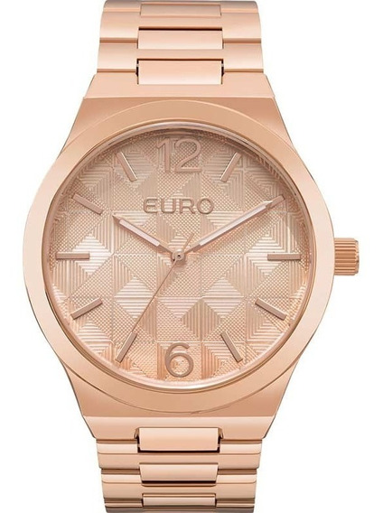 Relógio Feminino Euro Rose Original Eu2036yln/4t Promoção