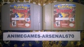 Nintendo 64 Pokemon Stadium Portada Restaurada B N64 C/u