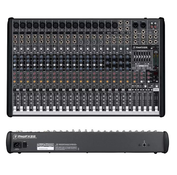 Mesa De Som Mixer Profx22 V2 22 Ch Usb Mackie