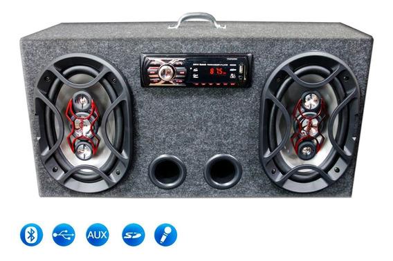 Caixa Ativa 6x9 Bravox Usb Bluetooth + Modulo Taramps Tl500