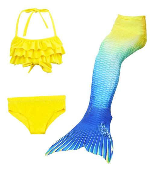 Cauda De Sereia Fantasia Com Biquin (sem Nadadeira)