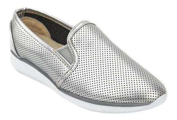 Zapatos Sneakers Moda Dama Plata 020643 Mundo Terra