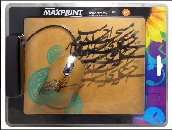 609180 Mouse Ótico Usb Maxprint + Base - Pcs E Notebooks