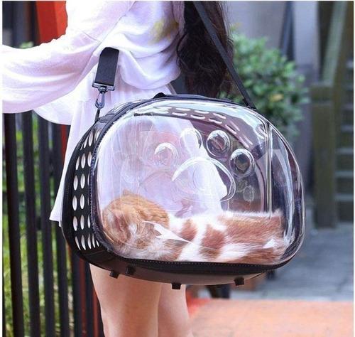 Porta Mascota Bolso Panoramico Perros Gatos 42x28x32cm P102