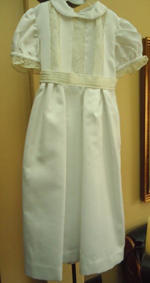 Vestido Para Nena,( Fiesta, Bautismo, Casamiento) Blanco