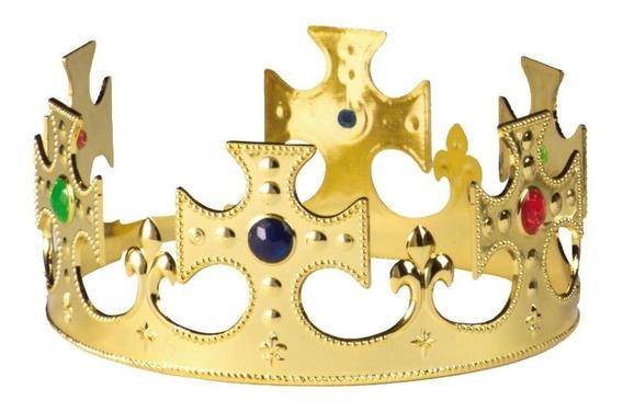 Corona Rey Mago Príncipe Plástico Boda Fiesta Temática