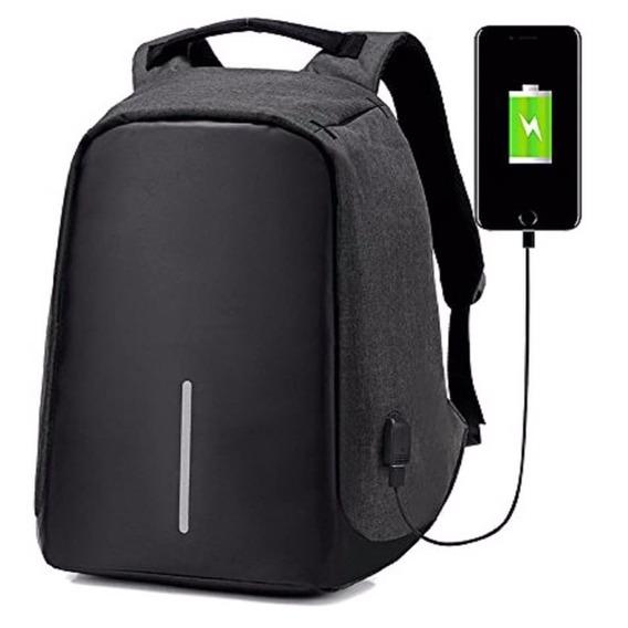 Mochila Antirrobo Smart Bag Carga Usb Notebook Envío Gratis