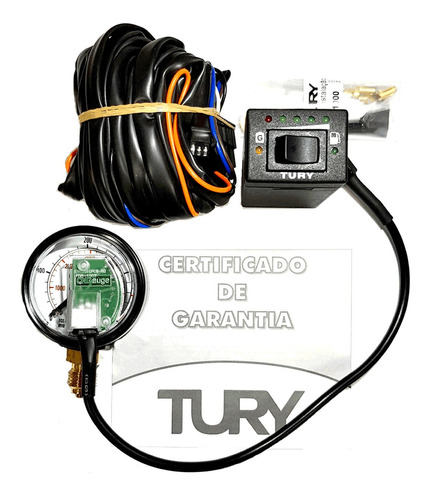 Kit Elétrico Tury Gas T1000 A Chave Manômetro E Chicote 12x