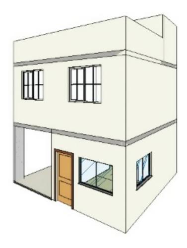 Projeto Arquitetônico Sobrado De Pequeno Porte