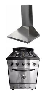 Combo Cocina Depaolo 57 Cm Horno Pizzero + Campana Col-home