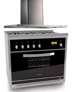 Combo Cocina Morelli Cristal 5 H 900 + Campana Slim Col-home