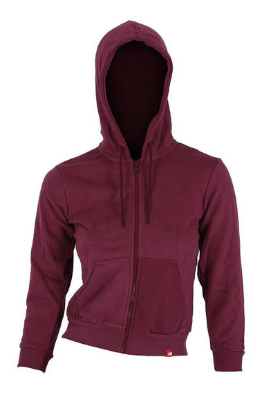 Campera New Balance Essentials Brushed Bordo Niña Rcmdr