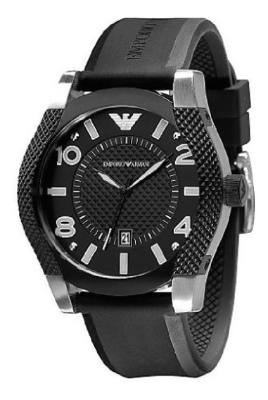 Relógio Emporio Armani Borracha Preto Original C/nf Ar5838