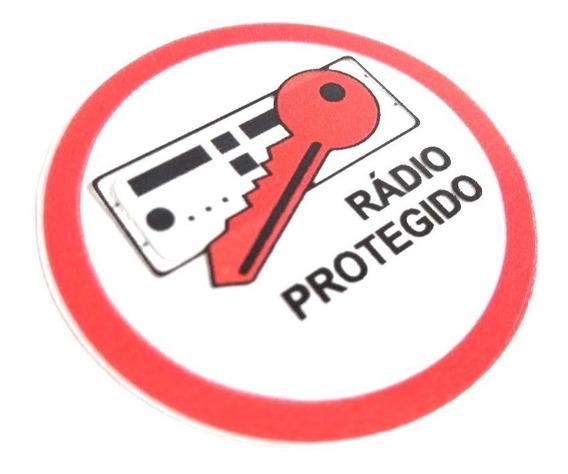 Adesivo Radio Protegido Vidro Interno Volkswagen Saveiro