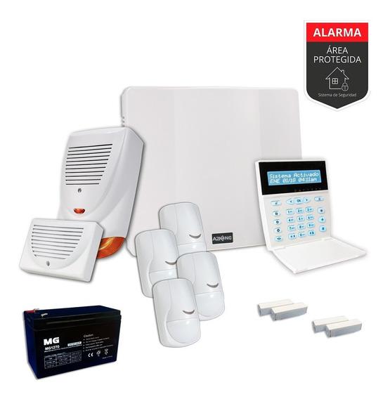 Alarma Domiciliaria+ Sensores+sirenas Kit - Cableado-12c