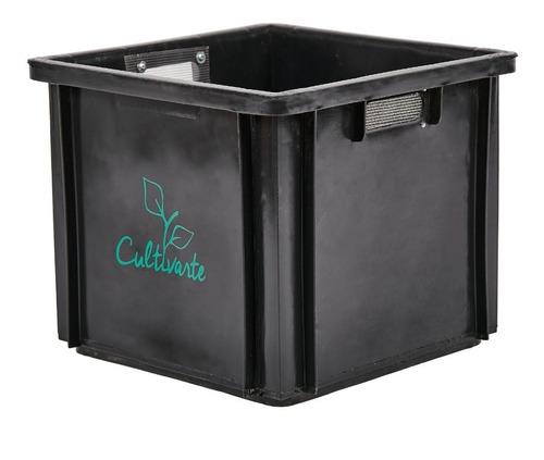 Imagen 1 de 3 de Módulo Extra 32 Litros Negro Para Compostera Cultivarte