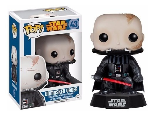 Star Wars Unmasked Darth Vader Boneco Pop Da Funko 10cms