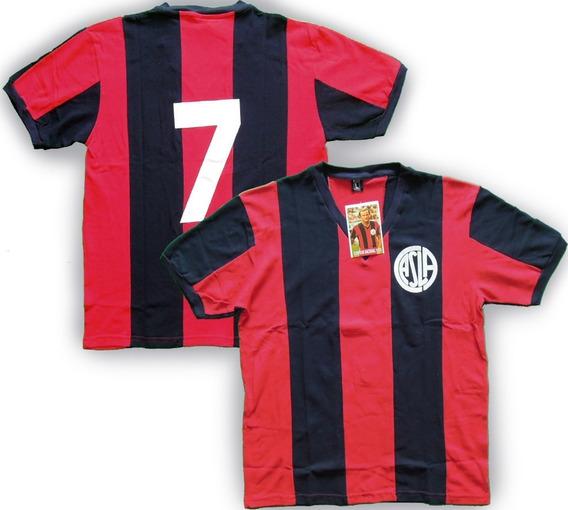 Camiseta Retro San Lorenzo 1974 #7 Scotta Campeon Nro Cosido