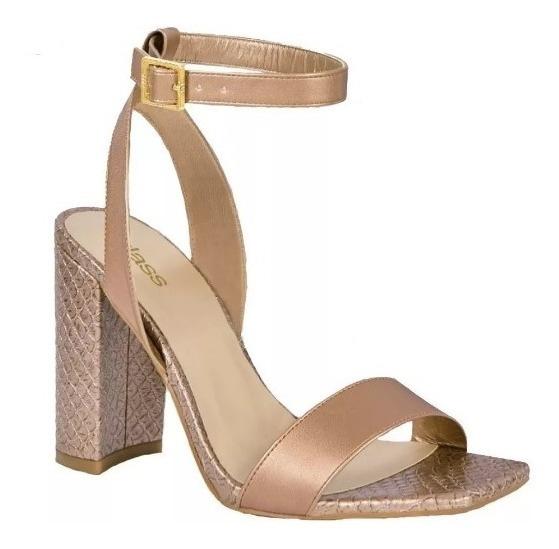 Zapatilla Zapato Dama Mujer Moda Oro Rosa Tipo Piel Tacon9cm