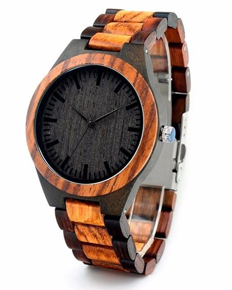 Relógio De Madeira Black Bobo Bird (na Caixa Original)