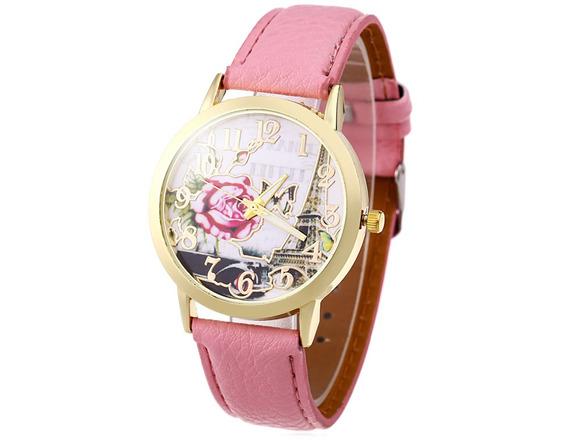 Relógio Feminino Retrô Rosa