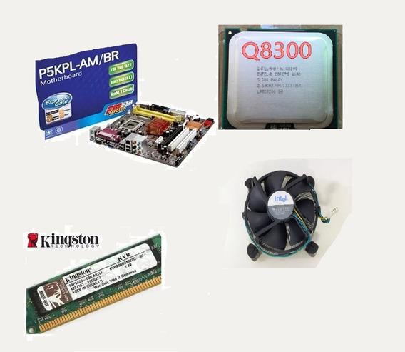 Pc Placa Mãe Asus P5kpl-am Intel Quadcore Lga775 4gb Ram