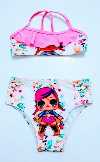 Biquini Infantil Peppa Minnie Moanna Barbie Masha Luna Tm 02
